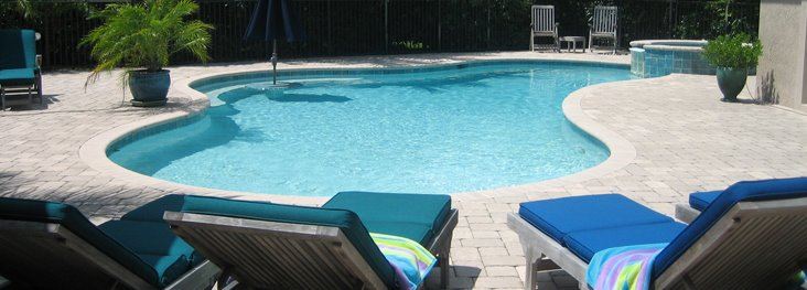 Providing swimming pool inspections since 1970 : Photo of pool inspected by Colony Pool