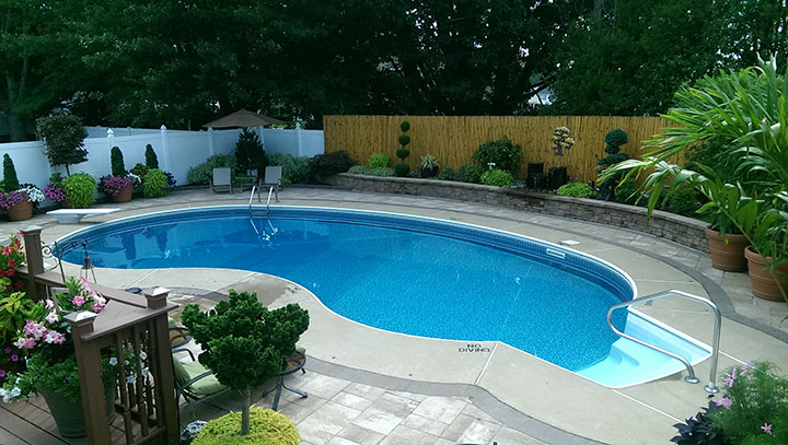 Residential pool serviced by Colony Pool - pool chemicals and supplies Delaware, Pennsylvania, Maryland and Southern New Jersey